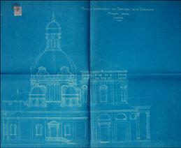 A.Vandone. Progetto di ampliamento, prospetto laterale 1899-1904