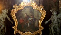 F.Cervetti Il cieco narra ai fratelli la visione, seconda meta del 1700, cornicione cupola
