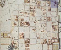 Pianta della citta di Carlo Morello, 1656