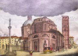 Veduta della Chiesa e del Santuario, seconda meta 800