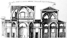 Guarino Guarini, Alzato del progetto per la chiesa di S.Andrea e Santuario Consolata