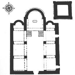 Ricostruzione della pianta ipotetica della chiesa di Sant.Andrea