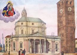 Veduta delsa chiesa e del Santuario, seconda meta 800
